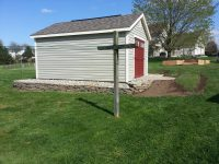 shed with clean lawn
